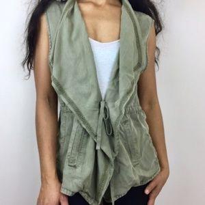 Max Jeans olive drawstring waist vest